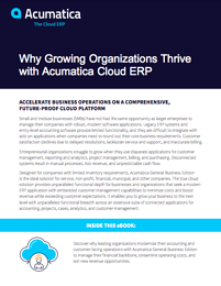 Why Growing Organizations Thrive with Acumatica Cloud ERP