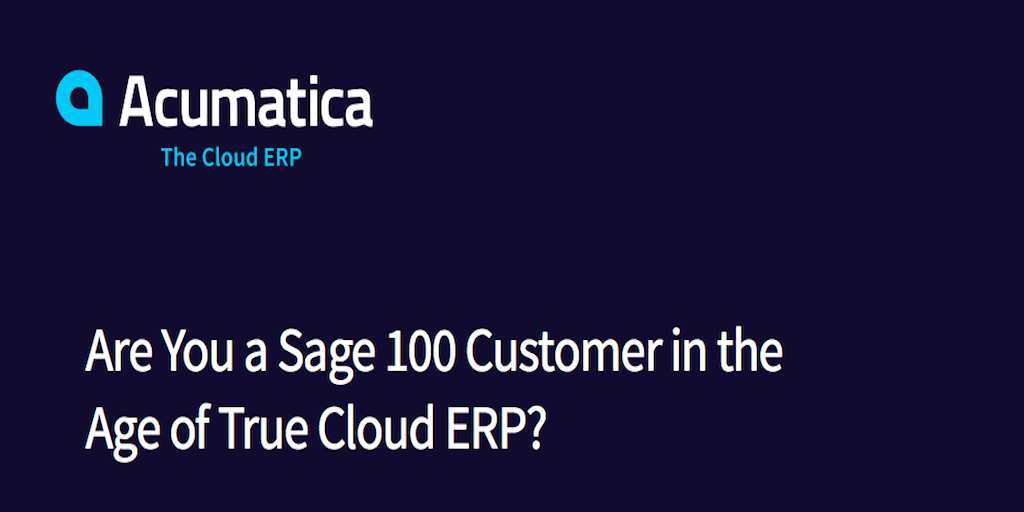 Are You a Sage Customer in the Age of Cloud-Based ERP Systems?